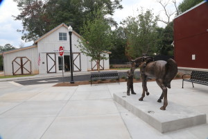 The Friends Barn sits right outside the main entrance of the new Milton Library.